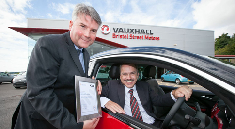 Bristol Street Motors Newcastle Vauxhall celebrate award win