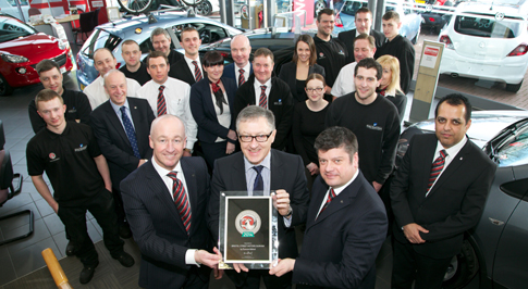 Vauxhall Durham recognised for excellent customer service