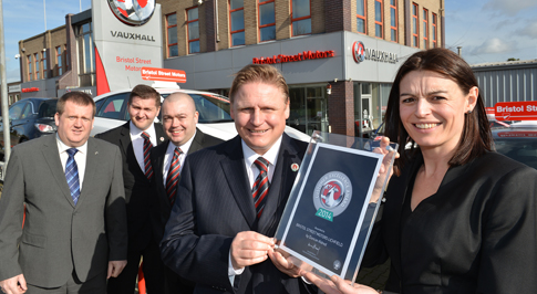 Vauxhall Lichfield recognised for excellent customer service