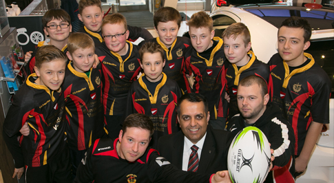 Vauxhall Sunderland gives boost for young rugby stars