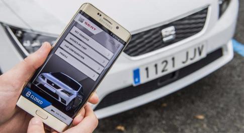 SEAT experiments with 'fingerprint parking'