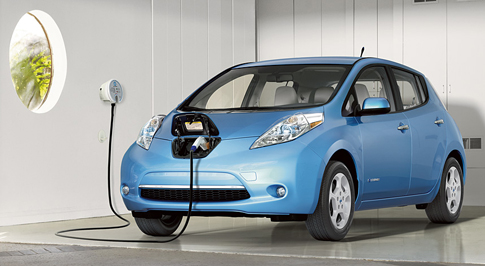 Nissan reports record sales on electric vehicles