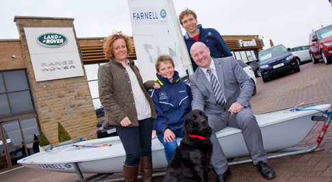 Talented junior sailor secures Farnell Land Rover support