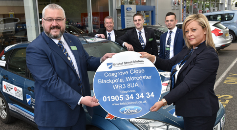 Worcester car dealership helps fundraising rally driver