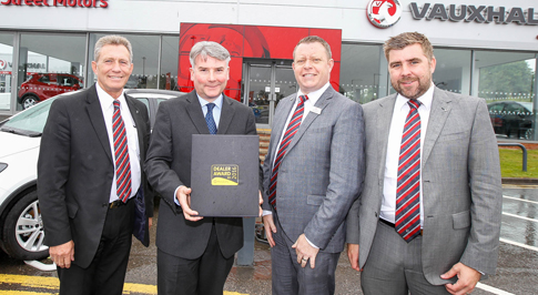 Vauxhall Carlisle wins award for customer service