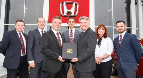 Vertu Honda Newcastle awarded for work with Motability