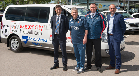 Hyundai Exeter kicks off Exeter City support with giveaway