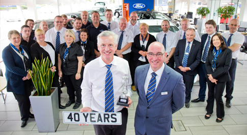 Colleague celebrates 40 years at Bolton dealership