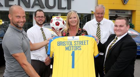 Bristol Street Motors Renault Exeter backs the Gulls