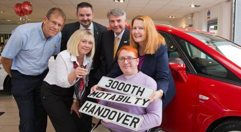 Motability milestone for Vauxhall Chesterfield