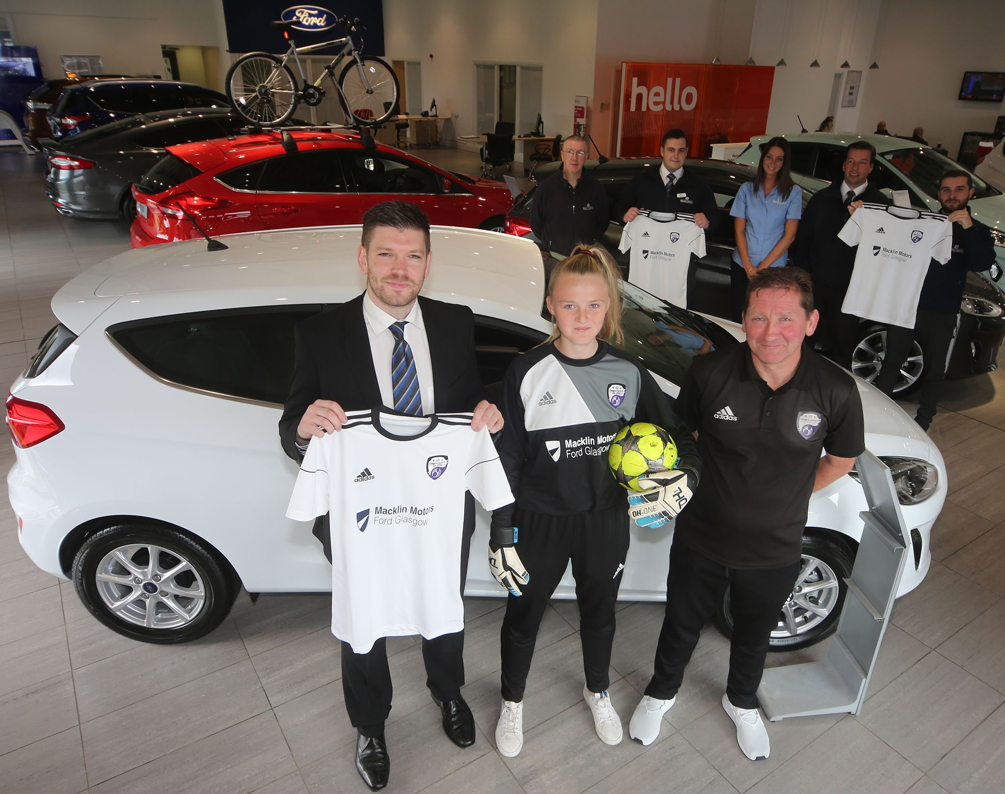 Macklin Motors Ford Glasgow backs grassroots girls football