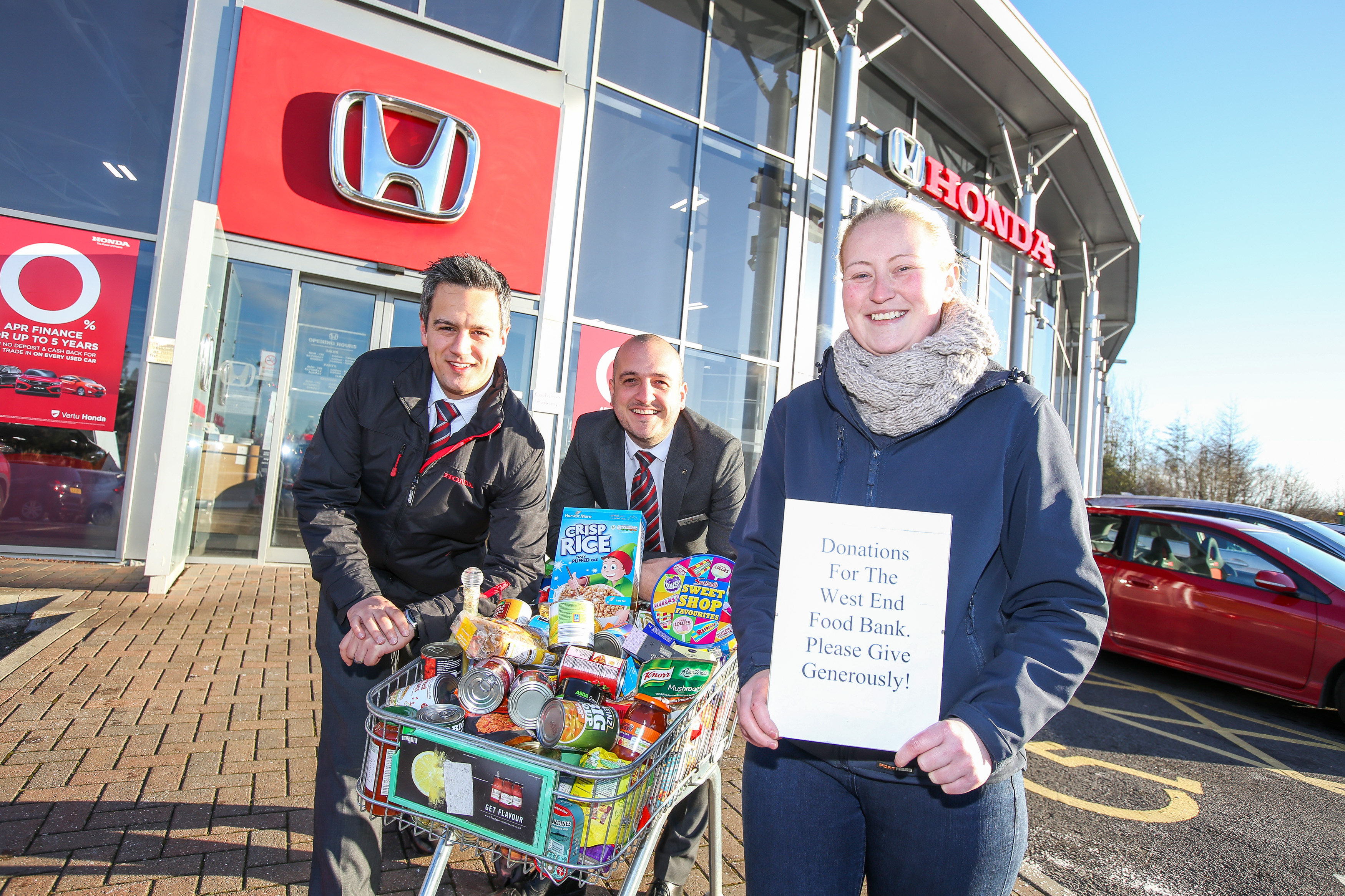 New Vertu Honda manager helps drive support for foodbank
