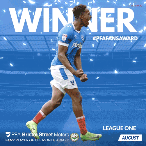 League One PFA Bristol Street Motors Fan's Player of the Month for August