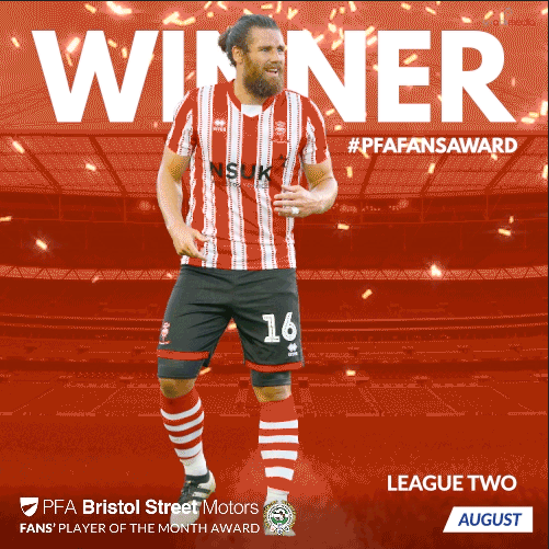 League Two PFA Bristol Street Motors Fan's Player of the Month for August