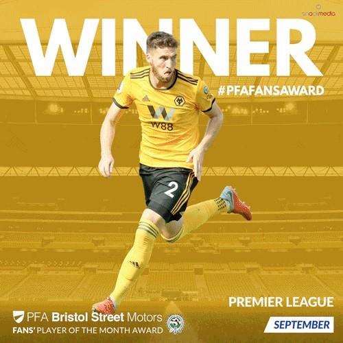 Premier League PFA Bristol Street Motors Fan's Player of the Month for September
