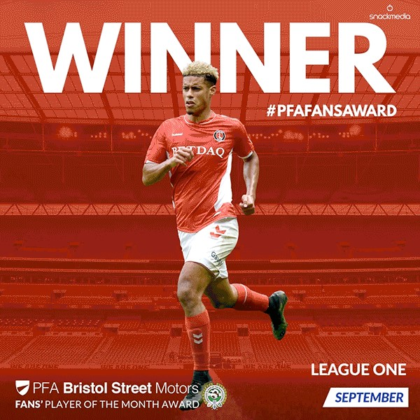 League 1 PFA Bristol Street Motors Fan's Player of the Month for September