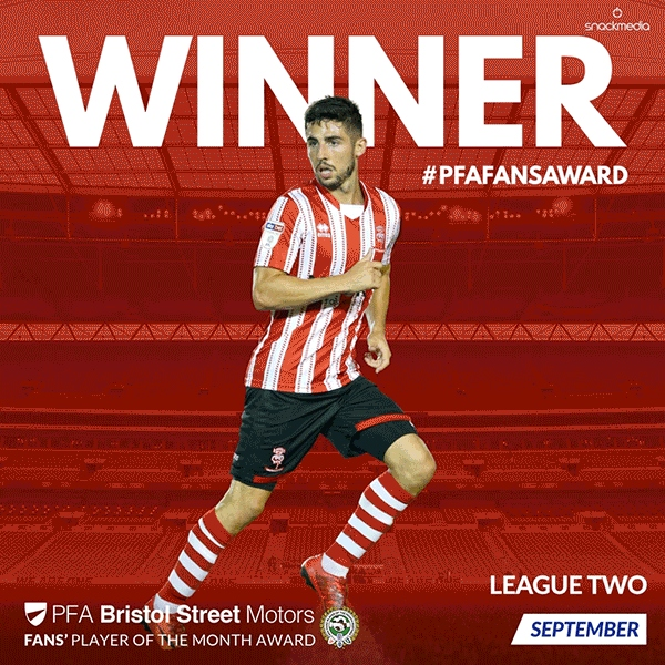 League 2 PFA Bristol Street Motors Fan's Player of the Month for September