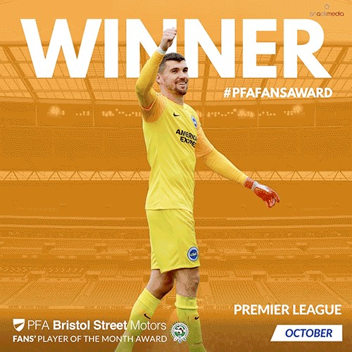 Premier League PFA Bristol Street Motors Fan's Player of the Month for October