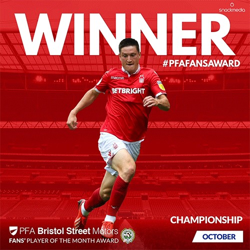 Championship PFA Bristol Street Motors Fan's Player of the Month for October