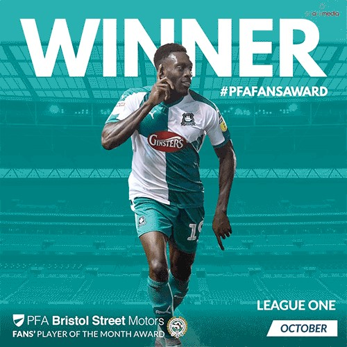 League 1 PFA Bristol Street Motors Fan's Player of the Month for October