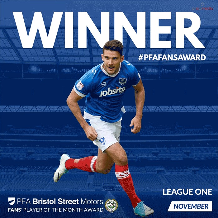 League 1 PFA Bristol Street Motors Fan's Player of the Month for November