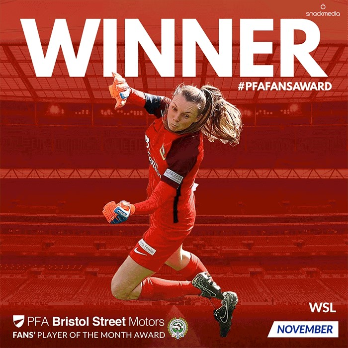 Women's PFA Bristol Street Motors Fans' Player of the Month Award November
