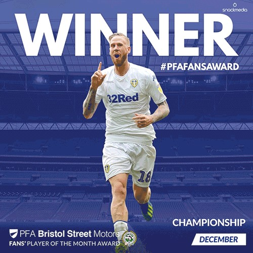 Leeds United's Jansson wins PFA Bristol Street Motors Fans' Player of the Month