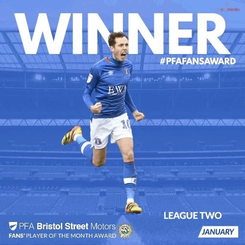 Carlisle's Devitt Wins PFA Bristol Street Motors Fans' Player of the Month