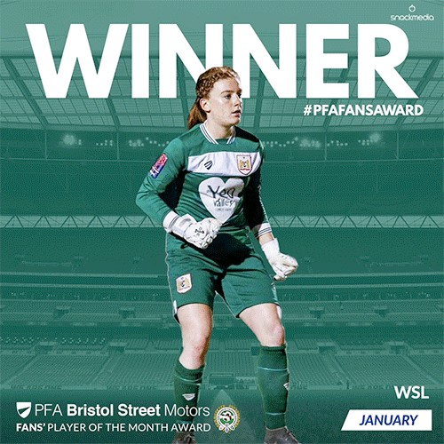 Bristol City's Baggaley wins PFA Bristol Street Motors Player of the Month Award