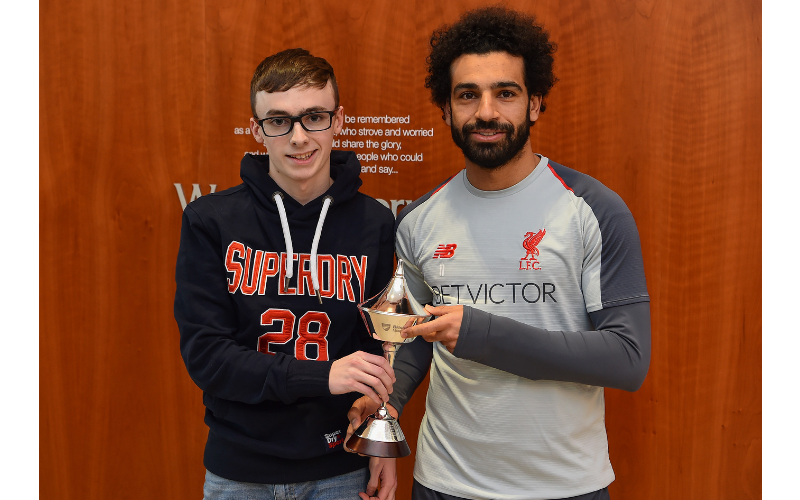 Liverpool Fan Flies in from Northern Ireland to Meet Idol Mo