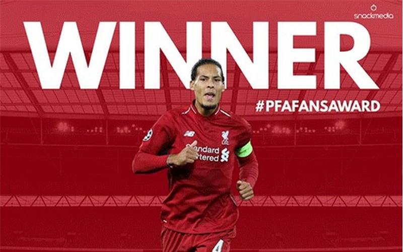 Liverpool's Van Dijk Wins Pfa Bristol Street Motors Fans' Player Of The Month