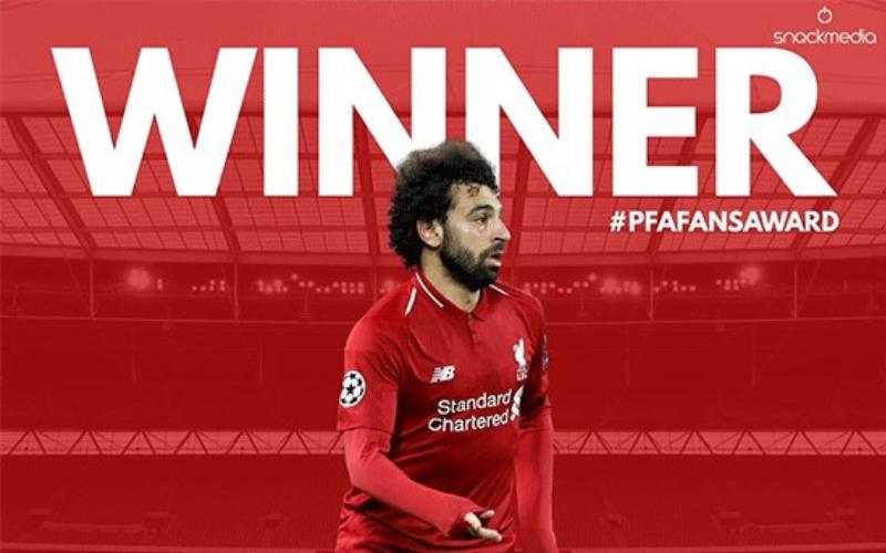 Liverpool's Salah Wins PFA Bristol Street Motors Fans' Player of The Month Award