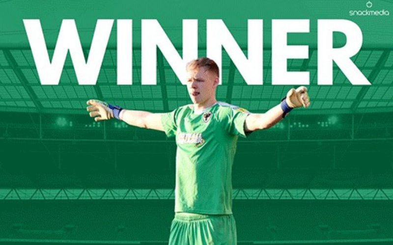 AFC Wimbledon's Aaron Ramsdale Wins PFA Bristol Street Motors Fans' Player