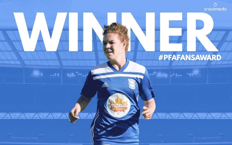 Birmingham City's Aoife Mannion Wins Player of The Month Award