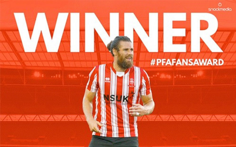 Lincoln City's Michael Bostwick Wins League Two Fans' Player of The Year Award