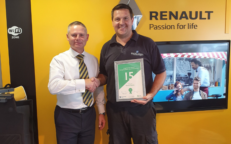 Bristol Street Motors Recognise 15 Years Of Service From Steven Pugsley