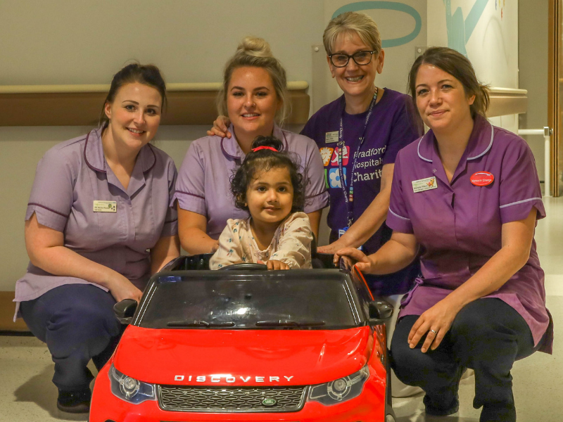 Bradford Hospital accelerates care on children's ward with mini Land Rover gift