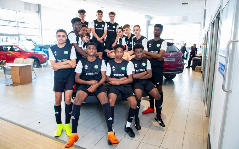 New Kits For Northampton Junior Footballers Courtesy Of Bristol Street Motors