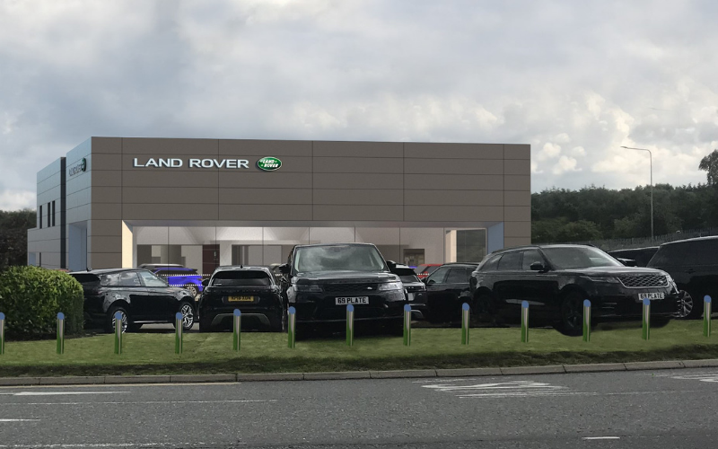Temporary Home For Farnell Land Rover Nelson During Major Redevelopment