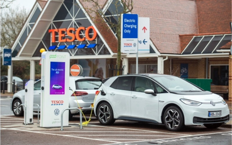 Volkswagen Are Installing Free EV Charging Points At Tescos