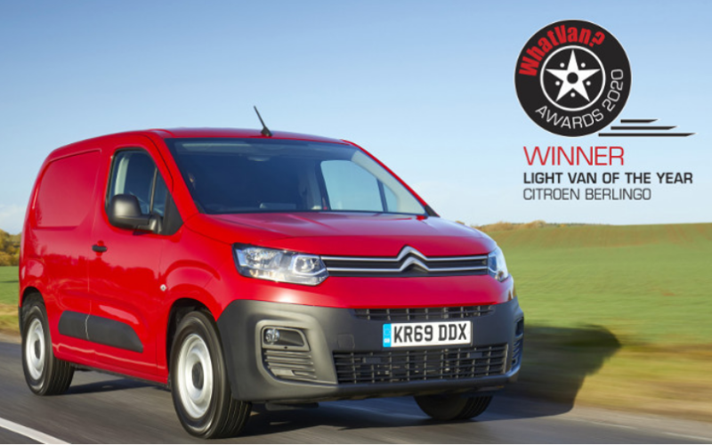 Citroen Berlingo Wins The Light Van Of The Year Prize At 2020 What Van? Awards