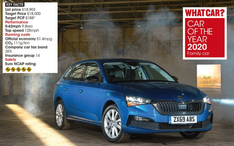 Skoda Scala Is Named Best Family Car Of The Year