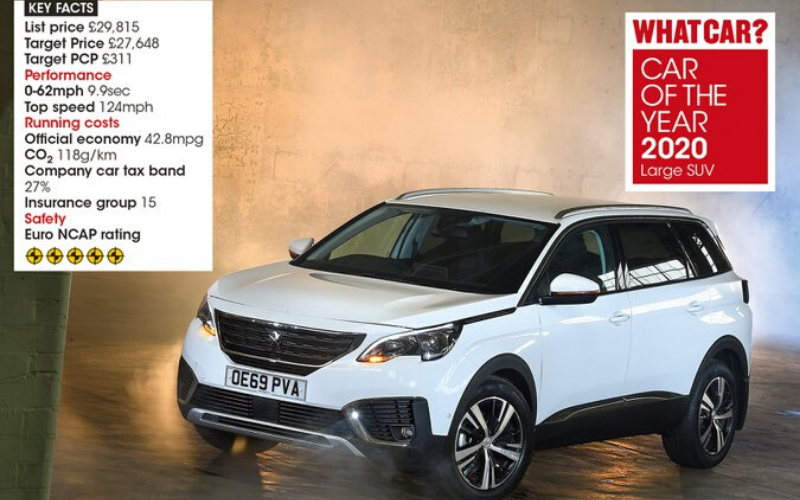 The Peugeot 5008 Wins What Car? Best Large SUV Award