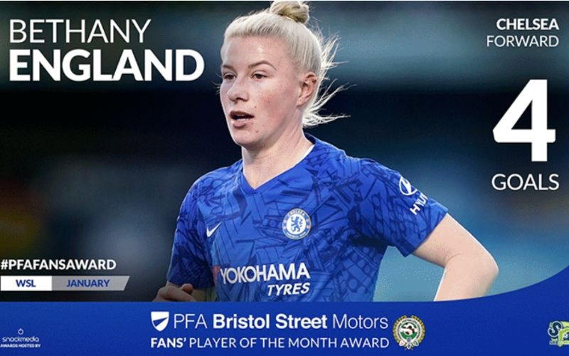 Bethany England Wins Fans' Player Of The Month Award