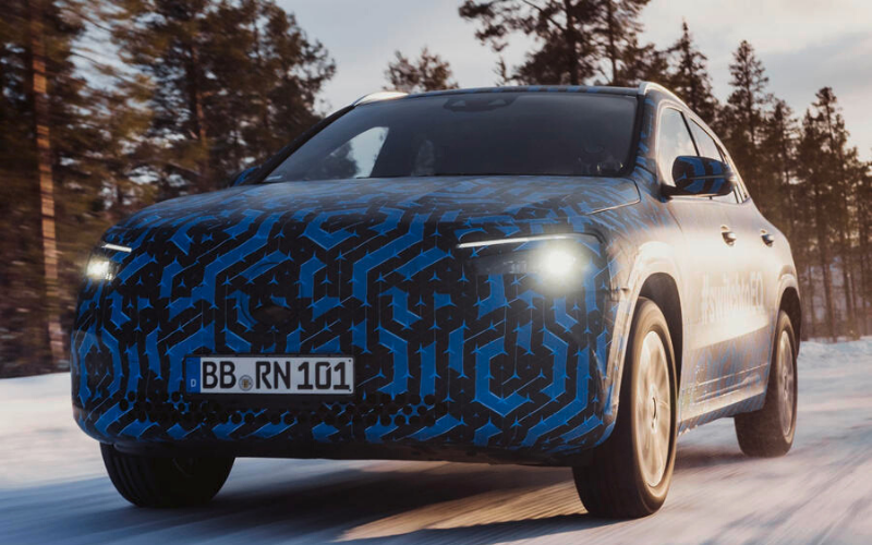 Mercedes EQA Spotted: The Electric Crossover Winter Tested In New Images