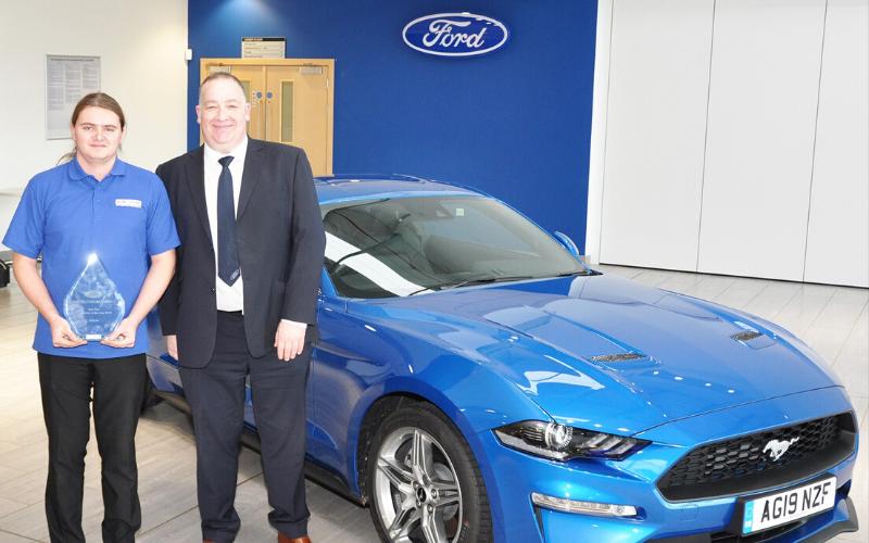 Bristol Street Motors Apprentice Technician Presented With National Award