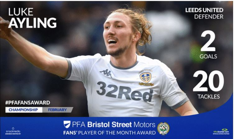 Leeds United's Luke Ayling Wins PFA Bristol Street Motors Fans' Player Award