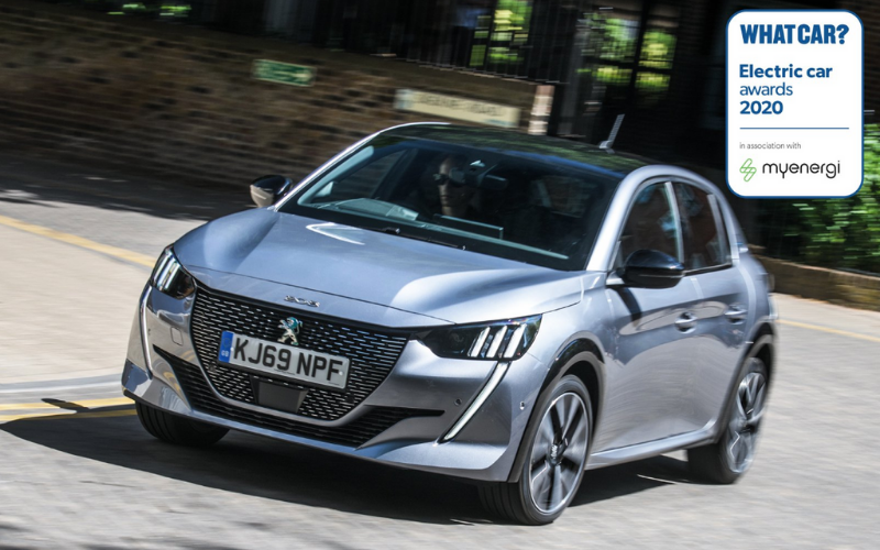 All-New Peugeot E-208 is Named Best Electric Small Car of the Year