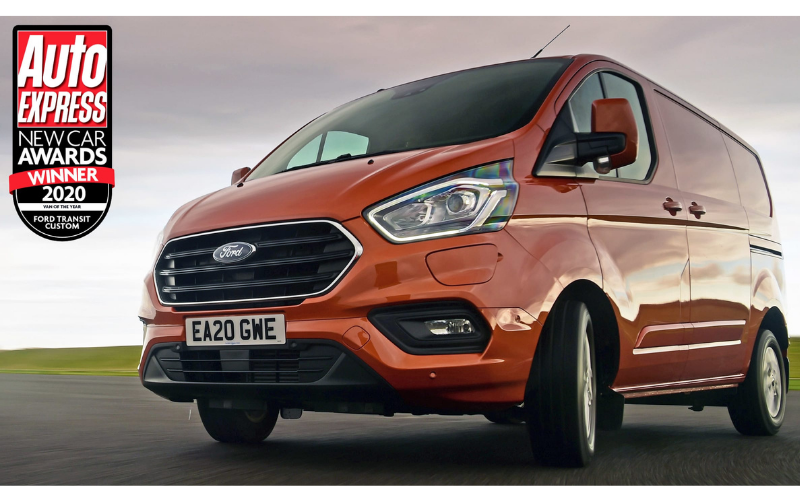 Ford Transit Custom Wins Van of the Year at 2020 Auto Express Awards