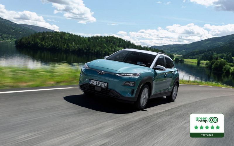 Hyundai Kona Electric Receives Five Star Green NCAP rating